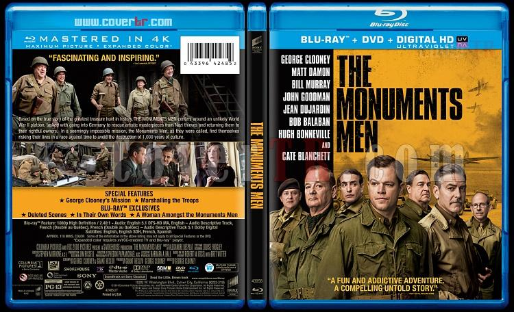 The Monuments Men (Hazine Avcıları) - Custom Bluray Cover - English [2014]-blu-ray-1-disc-flat-3173x1762-11mmjpg