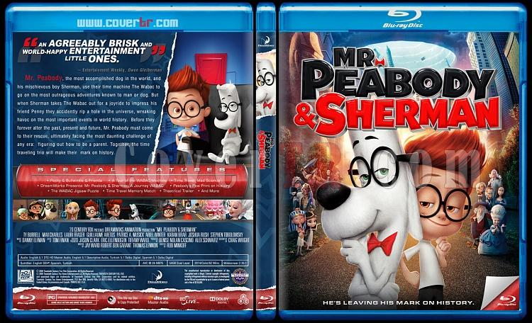 Mr. Peabody & Sherman (Bay Peabody ve Meraklı Sherman: Zamanda Yolculuk) - Custom Bluray Cover - English [2014]-previewjpg