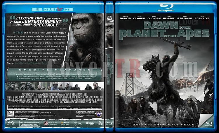 Dawn of the Planet of the Apes (Maymunlar Cehennemi: Şafak Vakti) - Custom Bluray Cover - English [2014]-previewjpg
