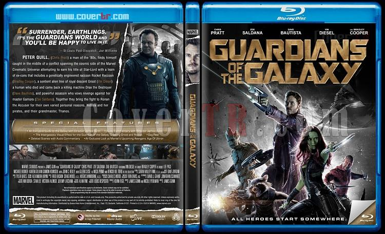 Guardians of the Galaxy (Galaksinin Koruyucuları) Custom Bluray Cover - English [2014]-guardian-galaxy-bw-previewjpg