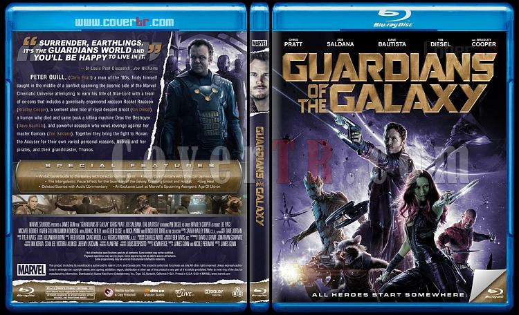 Guardians of the Galaxy (Galaksinin Koruyucuları) Custom Bluray Cover - English [2014]-guardian-galaxy-color-version-previewjpg