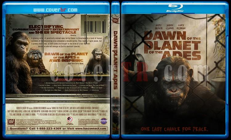 Dawn of the Planet of the Apes - Custom Bluray Cover - English [2014]-previewjpg