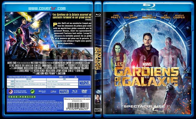 Guardians Of The Galaxy (Les Gardiens de la Galaxie) - Custom Bluray Cover - French [2014]-blu-ray-1-disc-flat-3173x1762-11mmjpg
