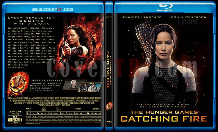 The Hunger Games: Catching Fire - Custom Bluray Cover - English [2013]-hunger-games-catching-fire-v1jpg