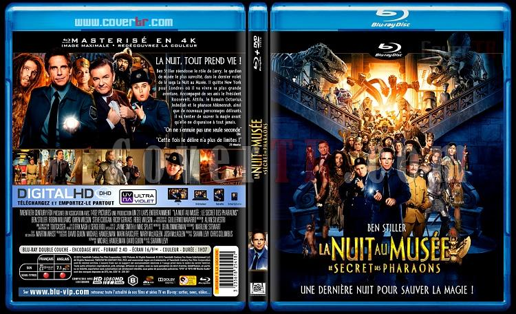 Night at the Museum: Secret of the Tomb (La Nuit Au musée Le Secret Des Pharaons) - Custom Bluray Cover - French [2014]-la-nuit-au-musie-3jpg