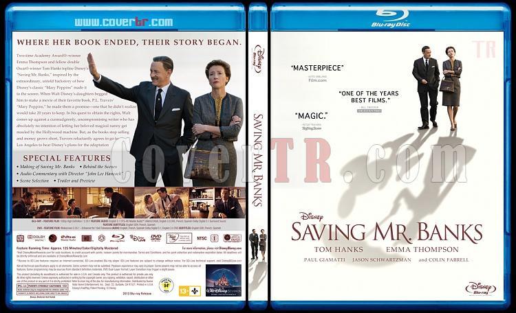 Saving Mr. Banks - Custom Bluray Cover - English [2013]-saving-mr-banks-bluray-coverjpg
