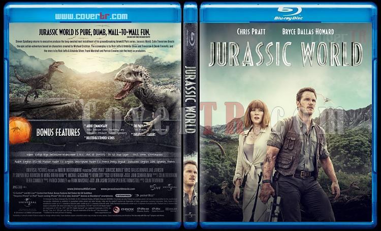 Jurassic World - Custom Bluray Cover - English [2015]-blu-ray-1-disc-flat-3173x1762-11mmjpg