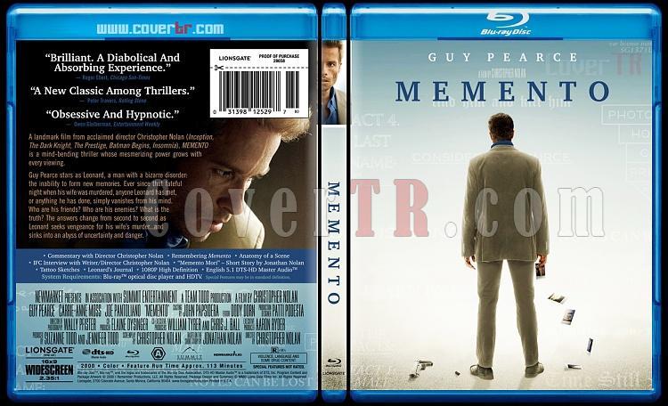 Memento - Custom Bluray Cover - English [2000]-memento10thanniversarybluraycoverbunnydojojpg