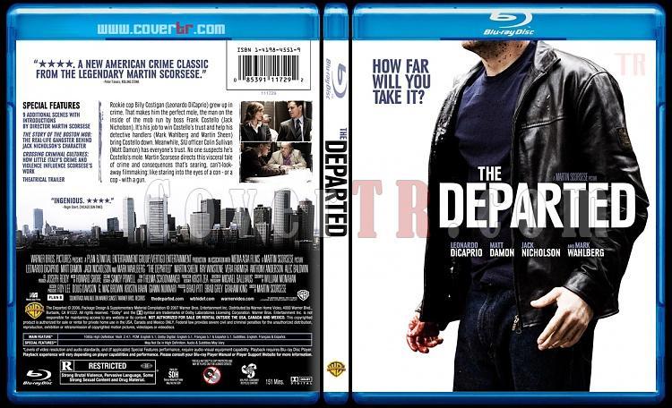 The Departed - Custom Bluray Cover - English [2006]-thedepartedblubunnydojojpg