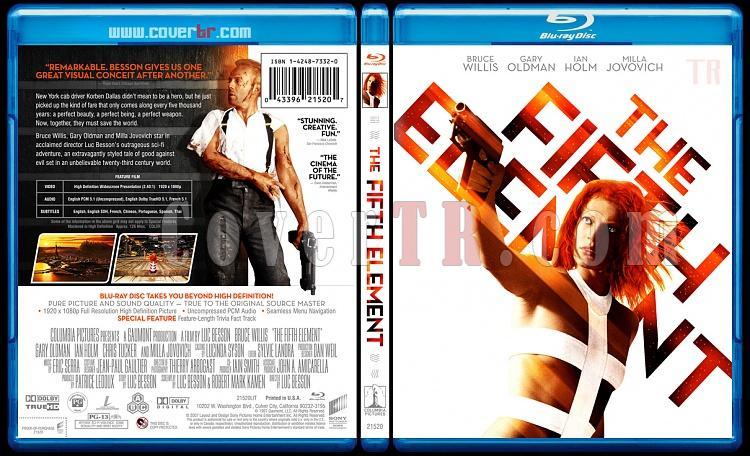The Fifth Element - Custom Bluray Cover - English [1997]-thefifthelementrevisedbluraycoverbunnydojojpg