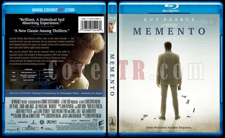 Memento - Custom Bluray Cover - English [2000]-mementobunnydojojpg