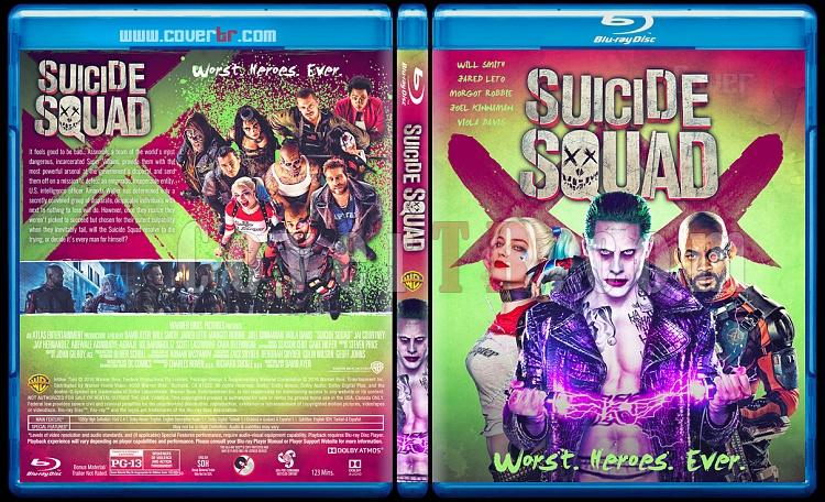 Suicide Squad (İntihar Timi) - Custom Bluray Cover - English [2016]-standartjpg