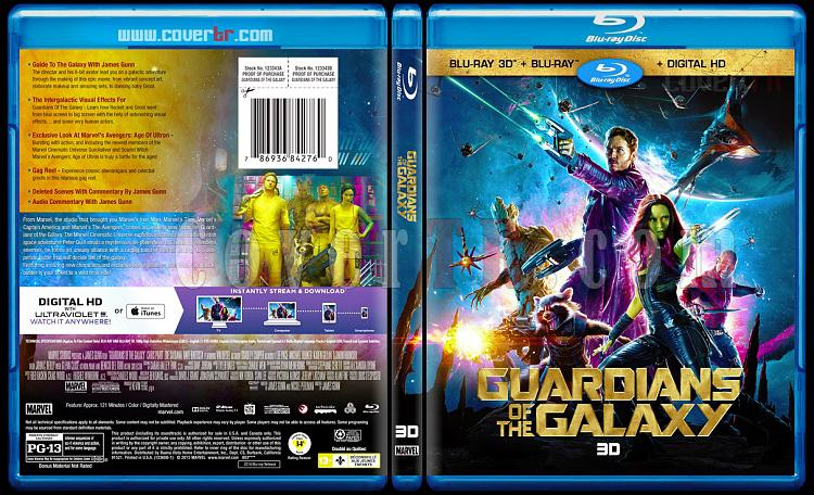 Guardians of the Galaxy 3D (Galaksinin Koruyucuları 3D) - Custom Bluray Cover - English [2014]-previewjpg