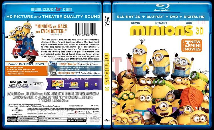 Minions (Minyonlar) 3D - Custom Bluray Cover - English [2015]-blu-ray-1-disc-flat-3173x1762-11mmjpg