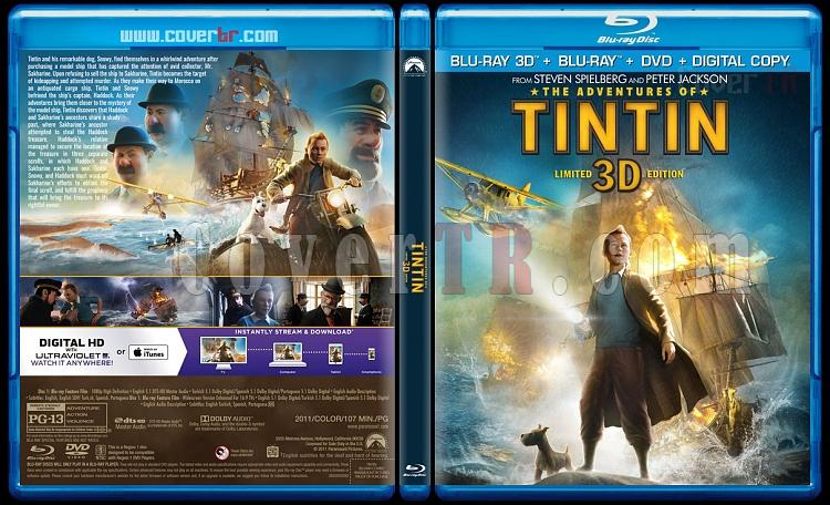The Adventures of Tintin (Tenten'in Maceraları) 3D - Custom Bluray Cover - English [2011]-blu-ray-1-disc-flat-3173x1762-11mmjpg