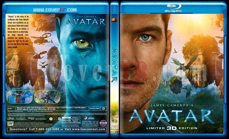 Avatar 3D - Custom Bluray Cover - English [2009]-previewjpg