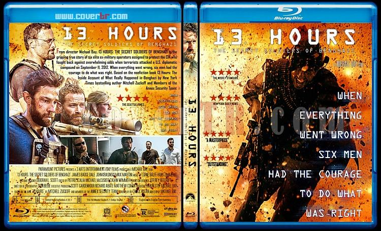 13 Hours: The Secret Soldiers of Benghazi - Custom Bluray Cover - English [2016]-preview2jpg