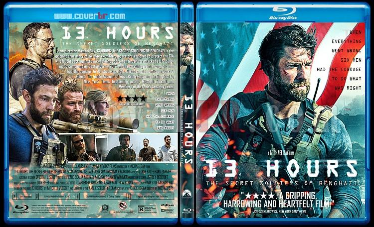 13 Hours: The Secret Soldiers of Benghazi - Custom Bluray Cover - English [2016]-previewjpg