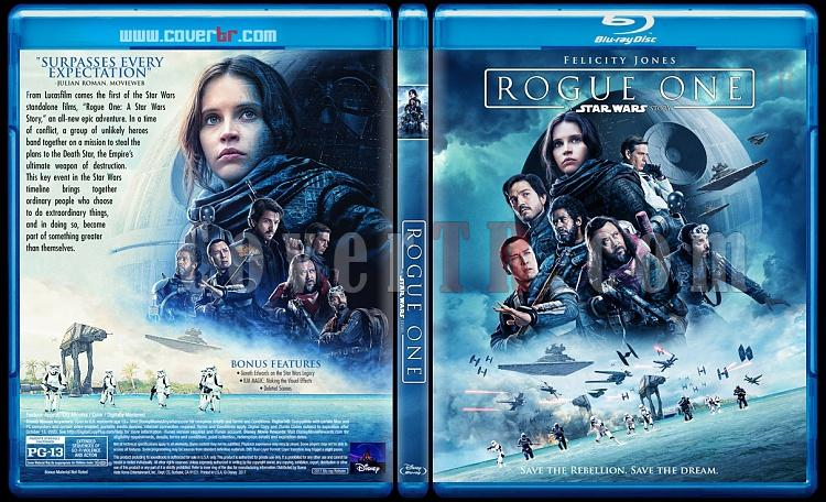 Rogue One: A Star Wars Story (Rogue One: Bir Star Wars Hikayesi) - Custom Bluray Cover - English [2016]-1jpg