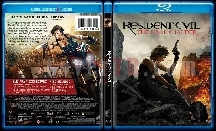 Resident Evil: The Final Chapter (Ölümcül Deney: Son Bölüm) - Custom Bluray Cover - English [2016]-12jpg