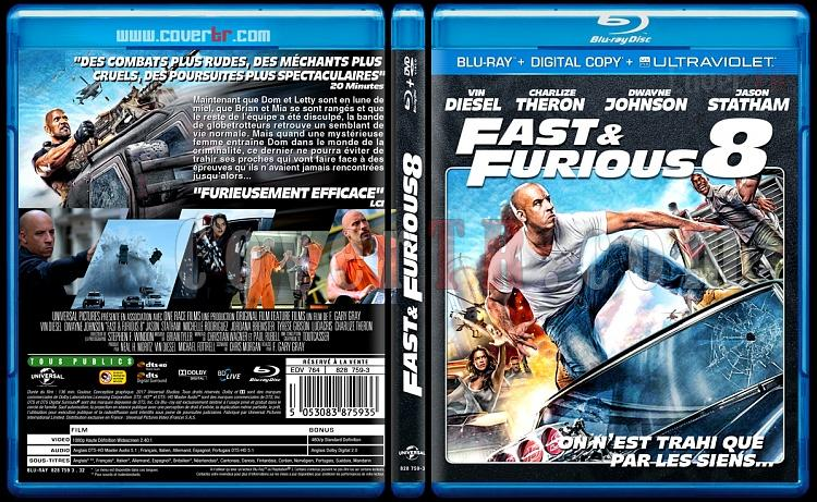 Fast & Furious 8 (The Fate Of The Furious) - Custom Bluray Cover - French [2017]-fastjpg