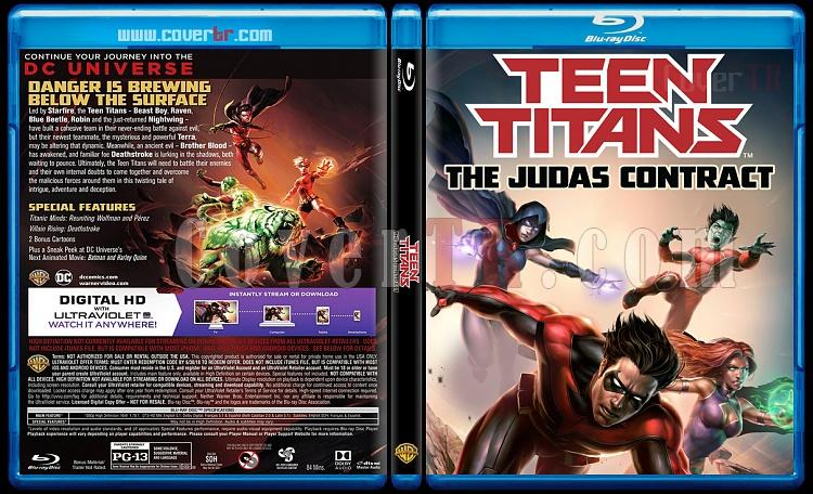 Teen Titans: The Judas Contract (Genç Titanlar: Judas Sözleşmesi) - Custom Bluray Cover - English [2017]-2jpg