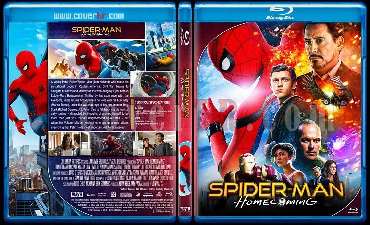Spiderman Homecoming (Örümcek-Adam: Eve Dönüş) - Custom Bluray Cover - English [2017]-2jpg