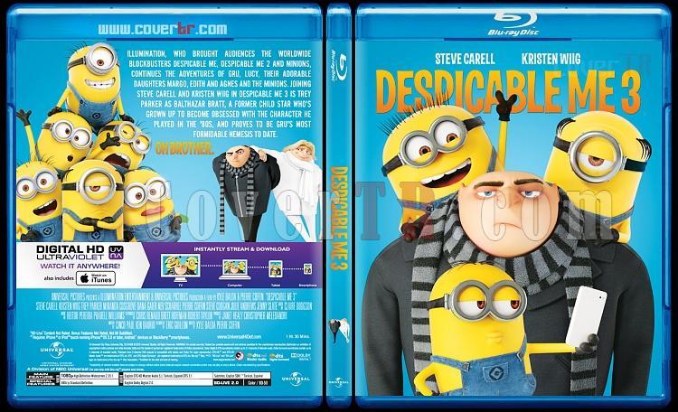 Despicable Me 3 (Çılgın Hırsız 3) - Custom Bluray Cover - English [2017]-1jpg