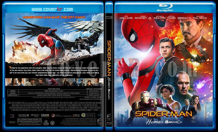 Spider-Man: Homecoming (Örümcek-Adam: Eve Dönüş) - Custom Bluray Cover - English [2017]-1jpg