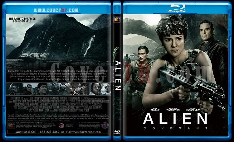Alien: Covenant (Yaratık: Covenant) - Custom Bluray Cover - English [2017]-1jpg