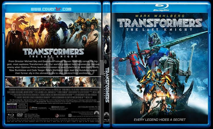 Transformers: The Last Knight (Transformers 5: Son Şövalye) - Custom Bluray Cover - English [2017]-2jpg