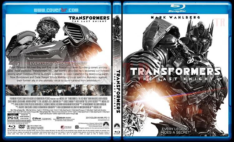 Transformers: The Last Knight (Transformers 5: Son Şövalye) - Custom Bluray Cover - English [2017]-1jpg