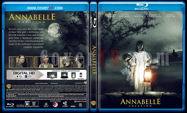 Annabelle: Creation (Annabelle: Kötülüğün Doğuşu - Custom Bluray Cover - English [2017]-1jpg