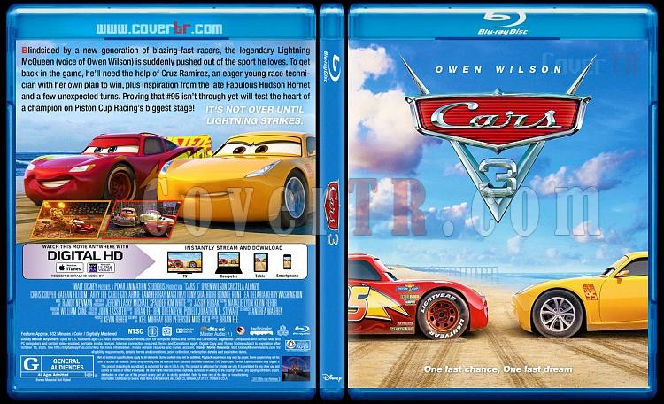 Cars 3 (Arabalar 3) - Custom Bluray Cover - English [2017]-1jpg