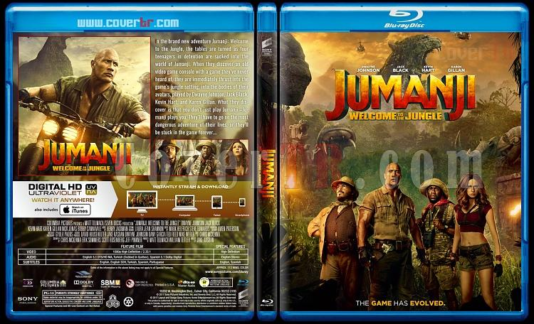 Jumanji: Welcome to the Jungle - Custom Bluray Cover - English [2017]-1jpg