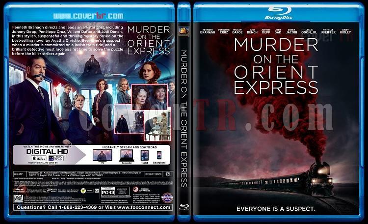 Murder on the Orient Express (Doğu Ekspresinde Cinayet) - Custom Bluray Cover - English [2017]-1jpg