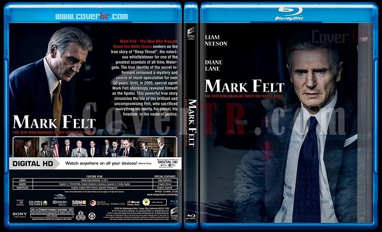 Mark Felt: The Man Who Brought Down the White House (Mark Felt: Beyaz Saray'a Yıkım Getiren Adam) - Custom Bluray Cover - English [2017]-1jpg