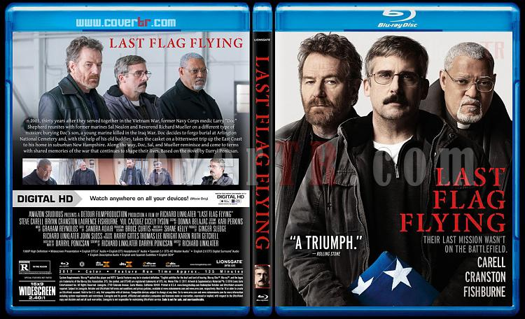 Last Flag Flying (Dalgalanan Son Bayrak) - Custom Bluray Cover - English [2017]-2jpg