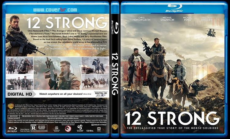 12 Strong (12 Savaşçı) - Custom Bluray Cover - English [2018]-1jpg