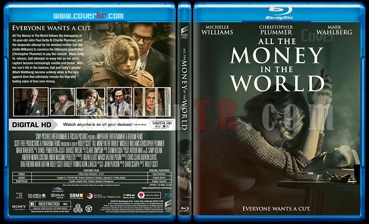 All The Money In The World (Dünyanın Bütün Parası) - Custom Bluray Cover - English [2017]-1jpg