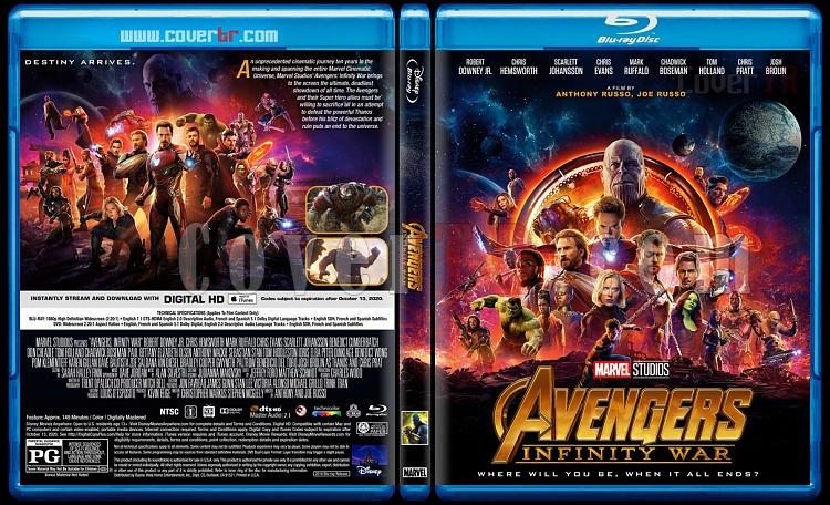 Avengers: Infinity War (Yenilmezler: Sonsuzluk Savaşı) - Custom Bluray Cover - English [2018]-1jpg