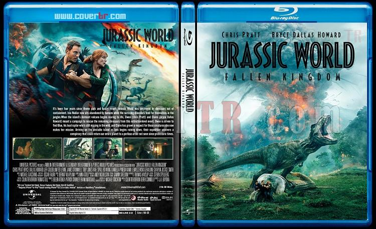 Jurassic World: Fallen Kingdom (Jurassic World:Yıkılmış Krallık) - Custom Bluray Cover - English [2018]-1jpg