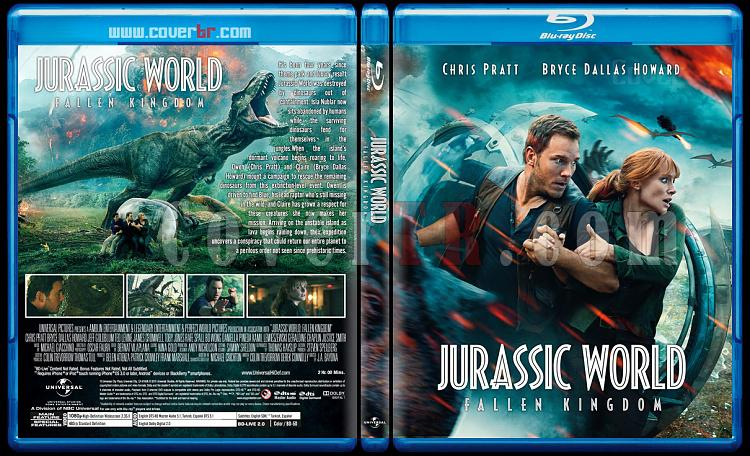 Jurassic World: Fallen Kingdom (Jurassic World:Yıkılmış Krallık) - Custom Bluray Cover - English [2018]-2jpg