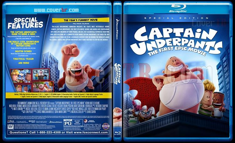 Captain Underpants: The First Epic Movie (Kaptan Düşükdon: Destansı İlk Film) - Custom Bluray Cover - English [2017]-2jpg
