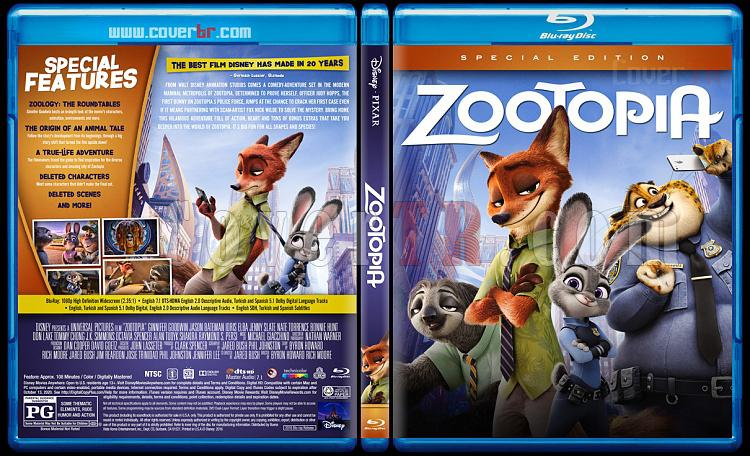 Zootopia (Zootropolis: Hayvanlar Şehri) - Custom Bluray Cover - English [2016]-6jpg