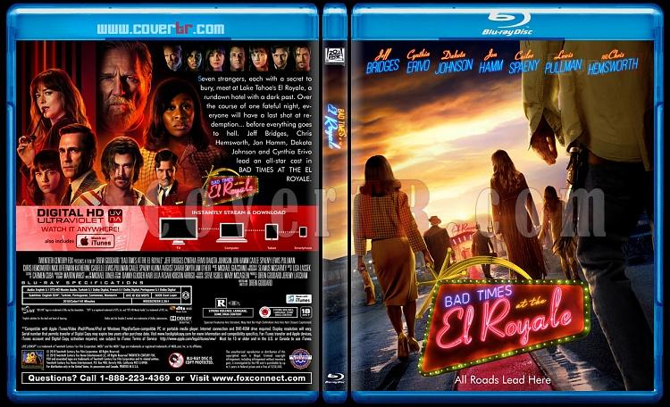 Bad Times at the El Royale (El Royale'de Zor Zamanlar) - Custom Bluray Cover - English [2018]-01jpg