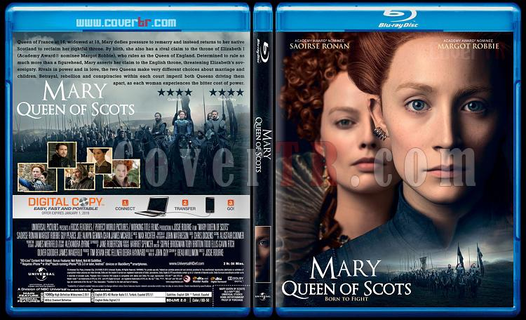 Mary Queen of Scots (İskoçya Kraliçesi Mary) - Custom Bluray Cover - English [2018]-01jpg