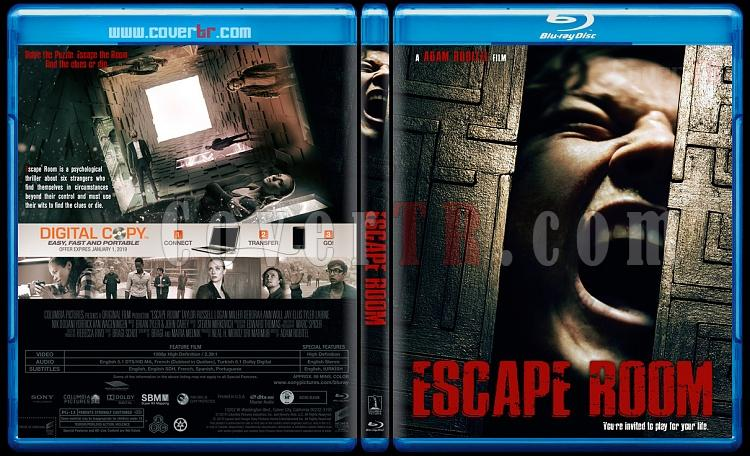 Escape Room (Ölümcül Labirent) - Custom Bluray Cover - English [2019]-02jpg