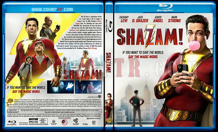 Shazam! (Shazam! 6 Güç) - Custom Bluray Cover - English [2019]-01jpg
