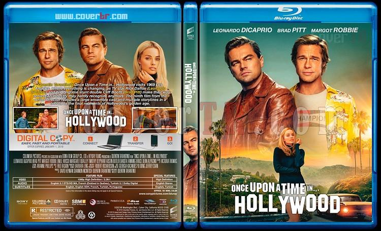 Once Upon A Time In Hollywood Bir Zamanlar Hollywood Da Custom Bluray Cover English 2019 Covertr
